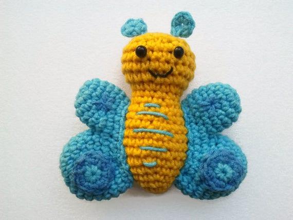Gehäkelter Schmetterling Plüsch Tier Puppe Amigurumi Etsy