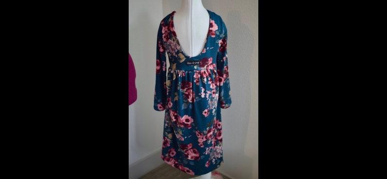 445e2253cb864 18 Month Girls 6 Burgundy Floral on Dark TealDENIM High | Etsy