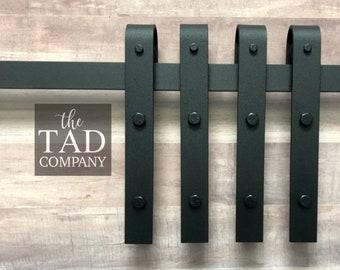 Mini Barn Door Hardware Set // 4 Rollers 1 Track // Rustic Modern // Sliding Door Hardware // For DIY Console // Mini Barn Door