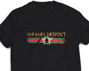 22d87db1b HARVARD DROPOUT shirt women men, lil pump t-shirt, streewear t shirt,  esskeetit tshirt, gucci inspired aesthetic t shirt #2082