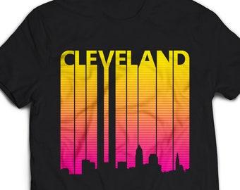 Cleveland Shirt, Cleveland tshirt women men, Vintage Retro 1980s Cleveland Tee, Cleveland skyline t shirt, Cleveland t-shirt gift #1107