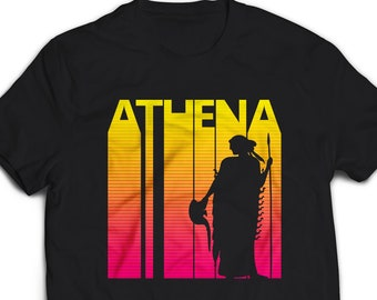 5cbdf15e5 ATHENA Greek Goddess T-shirt for Women Men gift shirt, Vintage Retro 1980's  style Greek Mythology shirt, tshirt, tee shirt #2543