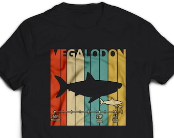 ca34dc77c1 Vintage Retro 1980's Megalodon Shirt Educational T-Shirt for Men Women  Kid's Funny Graphic Tshirt Gift #3012