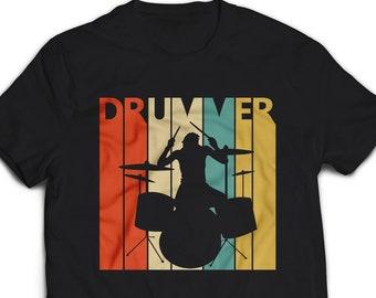f84c6d07 Vintage Retro Drummer t shirt - Drummer gifts - Drum player tshirt - Drum  player gift - drummer t-shirt - drummer tee shirt #1413