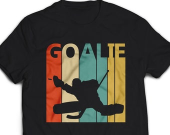 a906943c2 Vintage Retro Hockey goalie shirt - hockey goalie gift - hockey goalie  tshirt - hockey goalie t shirt - hockey goalie t-shirt  1425