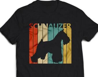 7346f119 Schnauzer Shirt - Vintage Retro Schnauzer Dog T-shirt Men's Women's Unisex  Tshirt gift #1668