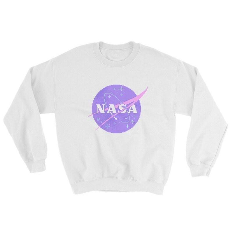 Pastel Nasa Logo Sweatshirt Vaporwave Aesthetic Clothing Etsy