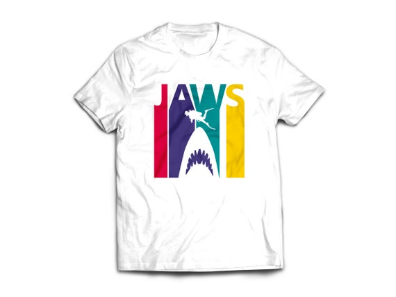 Four Colour Jaws T-shirt - S to XXL
