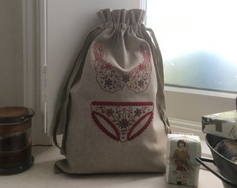 Ladies Travel Underwear Bag