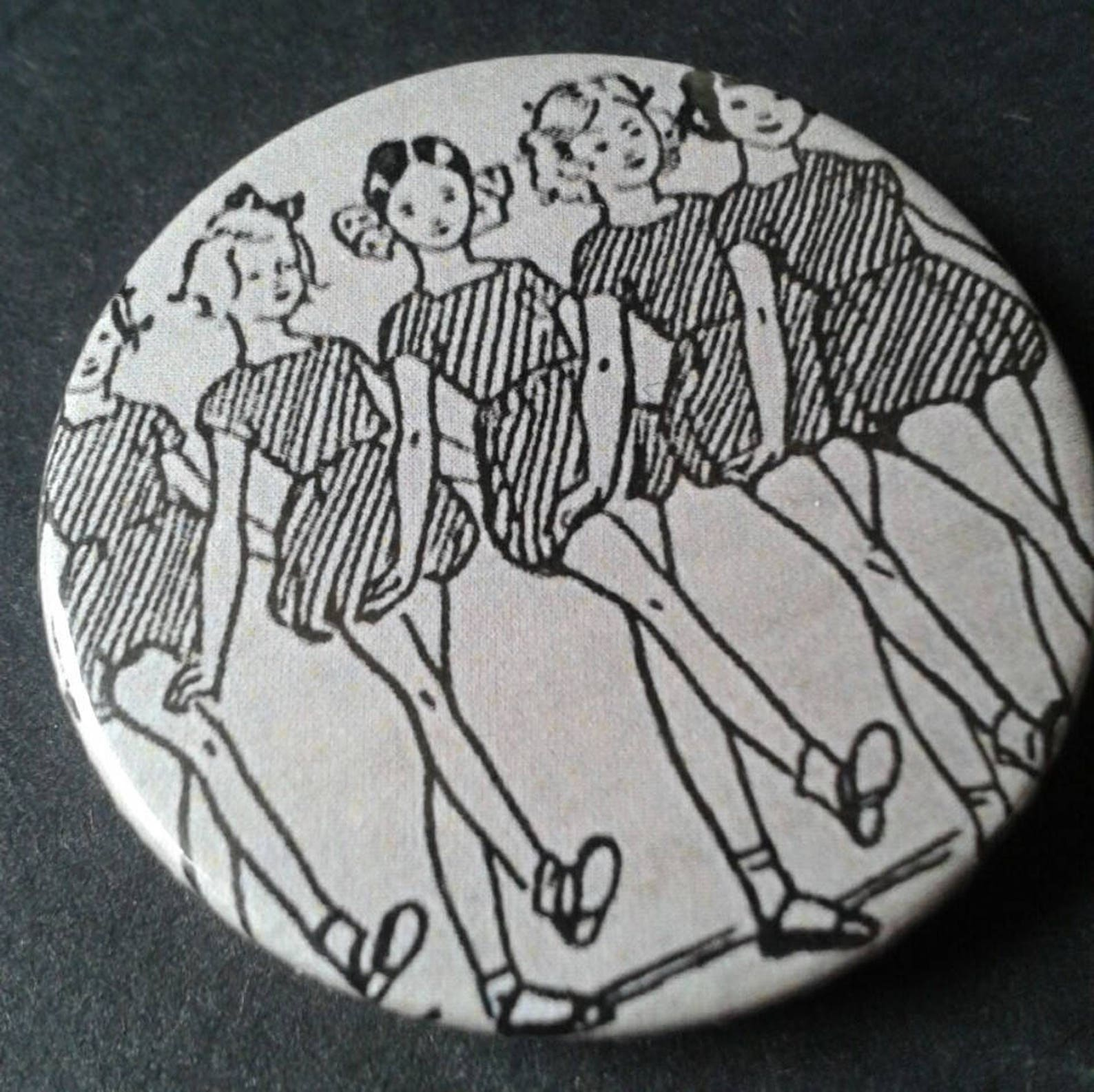 ballet shoes badge or fridge magnet -- 38 mm -- 25mm -- classic -- children's -- book -- dancer -- pin -- pin back button