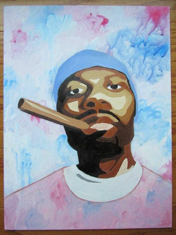 Gza The Genius Pop Art Oil Painting Original
