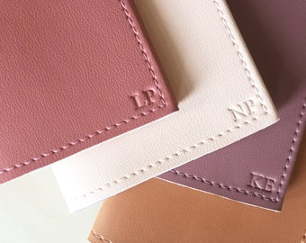 Embossed initials (Add-on item: Must also order passport holder separately*)