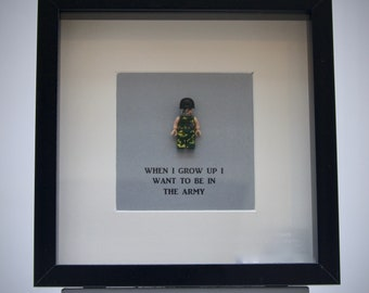 When I Grow Up Want To Be A City Gent Mini Figure Framed Picture 25 By Cm