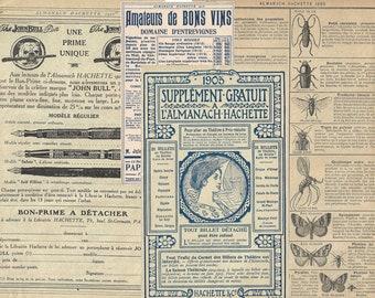 Digital French ephemera paper set