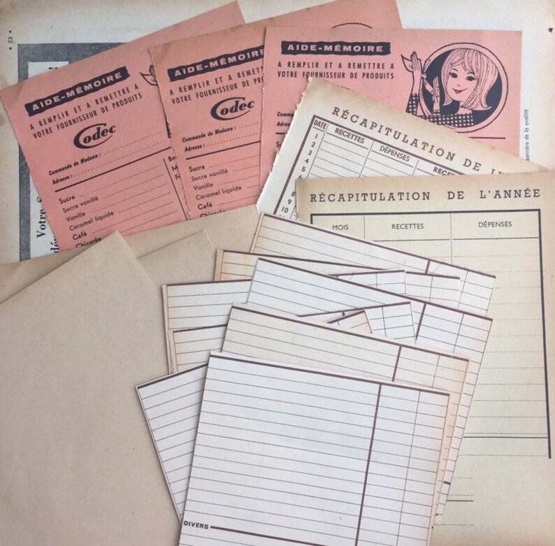 Vintage blank papers French Ephemera Paper Pack image 0
