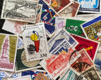 Mixed vintage postage Stamps from France