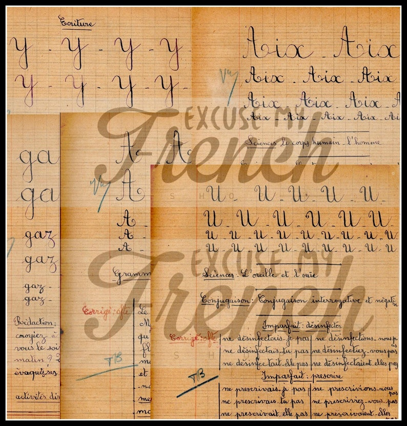 photo relating to Printable Cursive Alphabet named Printable Cursive Alphabet , Typical French Cursive Handwriting against 1940s Reproduction E-book