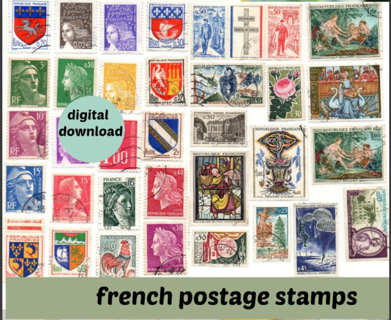 picture relating to Printable Postage Stamps identify Printable French stamp sheet, Classic French postage stamps sheets towards down load