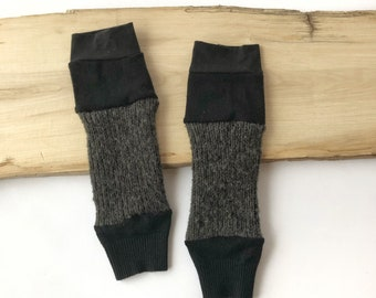Leggings for PEFs, leggings and/or wrist warmers / Women's sleeves, Brown, Black and Grey, Fabrics recovered.