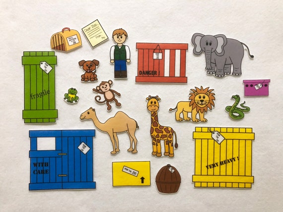 Dear Zoo Animals - Felt Stories - Speech Therapy - Zoo Animals Toy -  Toddler Quiet Play - Children's Gift - Flannel Board - Preschool Autism