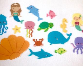 Mermaids Under the Sea: Hide and Seek! Felt Board Stories - Flannel Story Board - Speech Therapy - Children's Gift - Ocean Activity