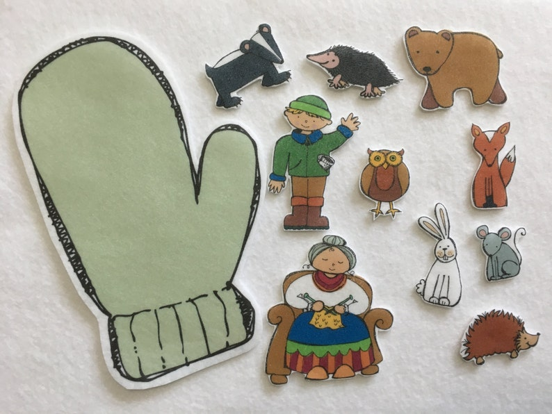 photo regarding Printable Felt Board Stories referred to as The Mitten - Felt Board Reviews - Flannel Board - Speech Treatment - Wintertime E-book Video game - Items for Small children - Stocking Stuffer - Serene Enjoy Toy