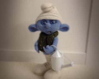 Clumsy Smurf//Smurf (Smurfik) butterfingers (wool)