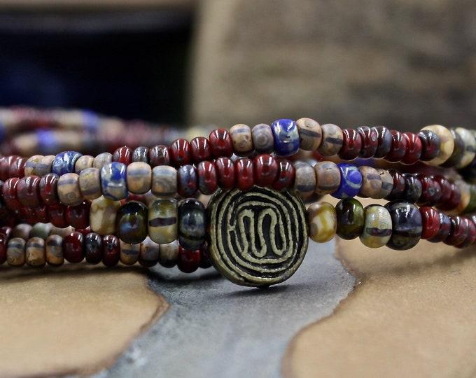 Serendipity Men's - Antique & Vintage Men's Beaded Bracelet /Bracelet For Men