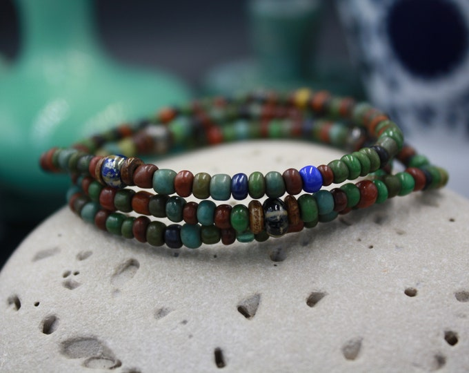 Antique & Vintage Men's Seed Bead Bracelet For Him - Dorset