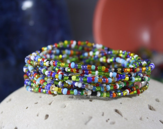 Murano - Antique & Vintage Women's Beaded Bracelet, 100 Year Old Murano Glass, Murano Bracelet