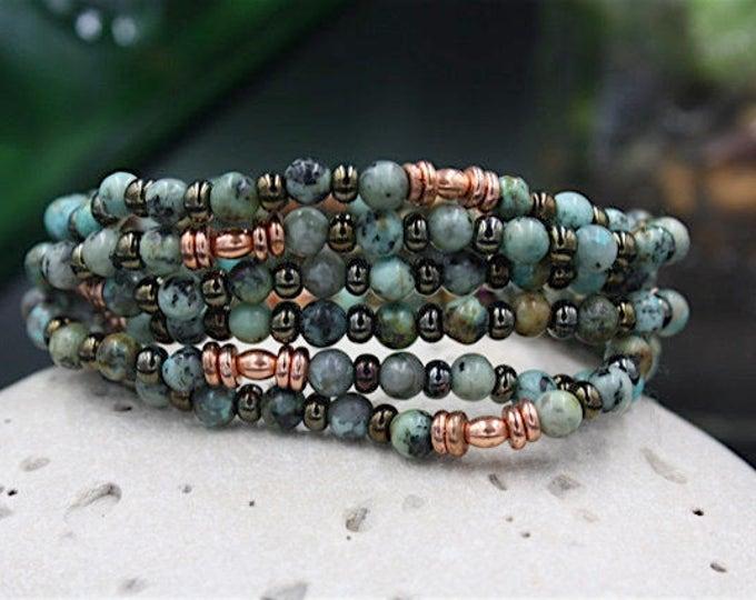 Beacon Turquoise  - Antique & Vintage Women's Beaded Bracelet/Gift For Her, Beacon Turquoise