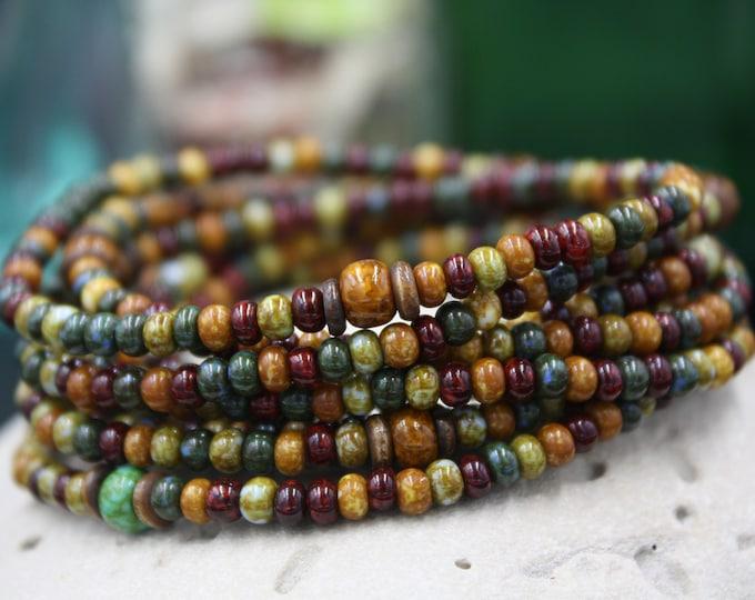 Buttermilk Falls - Antique & Vintage Women's Seed  Bead Bracelet For Her-Buttermilk Falls