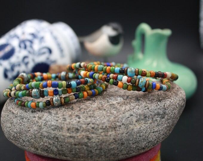 Munzplatz - Vintage Men's Seed Bead Bracelet For Him - Munzplatz