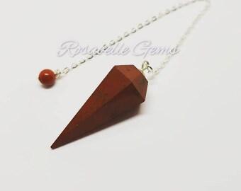 Red Jasper, Pendulum, Red Jasper Pendulum, Divination Pendulum, Jasper, Meditation, Crystal Pendulum, Dowsing, Base Chakra, Root Chakra