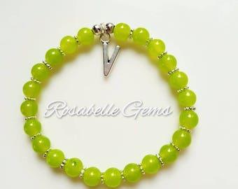Peridot, Bracelet, Peridot Bracelet, Peridot Crystal, Gemstone Bracelet, August Birthstone, Green Bracelet, Green Crystal, August Birthday