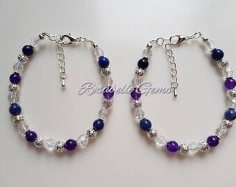 Insomnia Bracelet, Amethyst Bracelet, Lapis Lazuli Bracelet, Sodalite Bracelet, Gemstone Bracelet, Sleeping Aid, Insomnia, Gift For Her