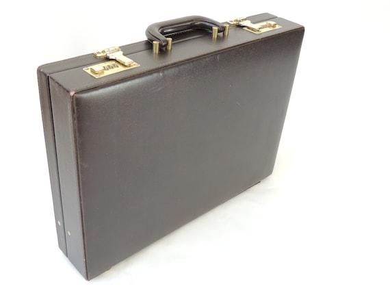 Vintage Brown Briefcase, attache case, portfolio,