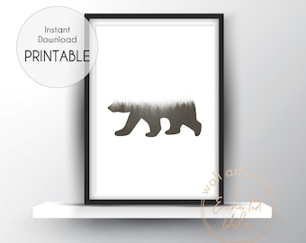 Wild Bear Print Etsy