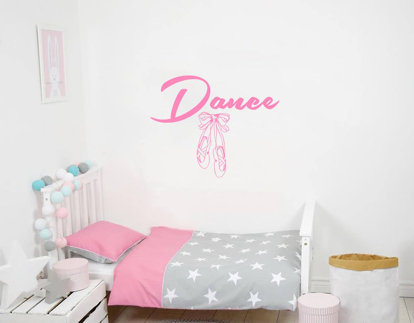 dance wall decal vinyl sticker decals ballet slipper shoes dancing ballerina wall decal quote wall decor dance studio decor nurs