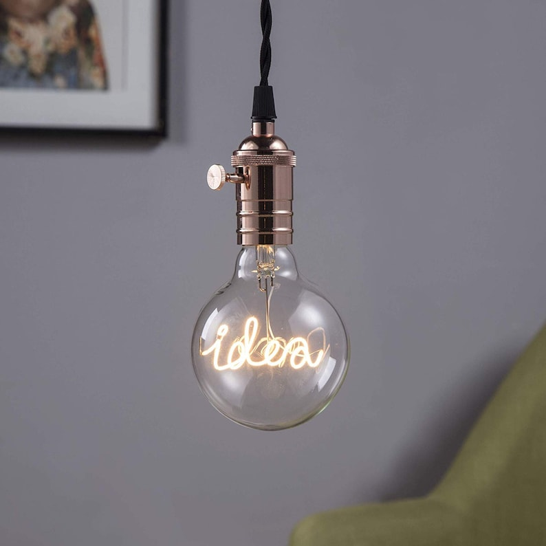 E26 or E27 Base DarkSteve Edison Light Bulb G95 Size Idea LED Pendant Light Bulb Modern Decorative Light 3w Dimmable