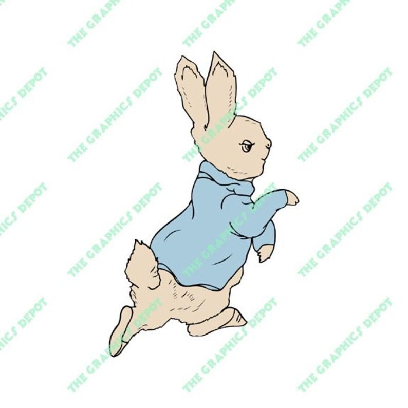 3d575b7797e6d3 Peter Rabbit SVG file DXF file EPS file png file