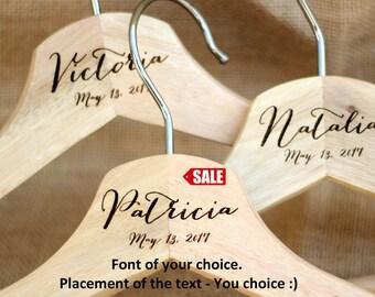 Wedding hanger bride, Wedding hanger personalized, Wedding hangers name, Wedding hanger with date, Bridal hanger, Bride hanger, Hanger SALE