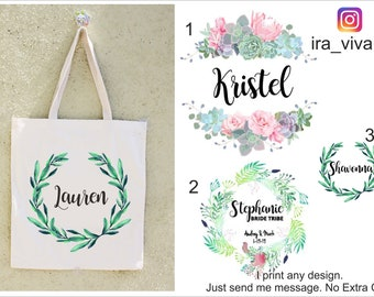 Bridesmaid Bags, Bridesmaid Tote Bags,Bridesmaid Bag,Wedding Tote Bags,  Bridal Party Gifts,Bride,Wedding Gift, Custom Tote Bag, Bachlorette 62d7d244ba