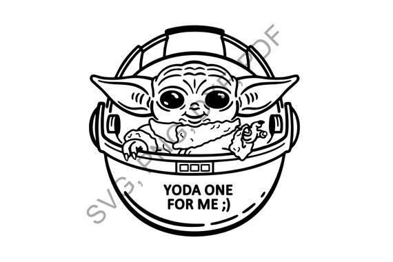 Baby Yoda Svg The Child Svg Mandalorian Baby Svg Star Wars Etsy