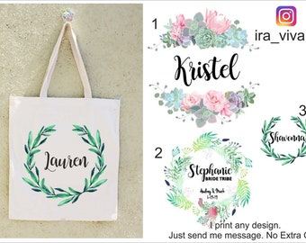 Personalized Maid of Honor Tote, Custom Bridesmaid Bag, Personalized Maid of Honor Bag, Custom Tote Bag, Personalized Wedding