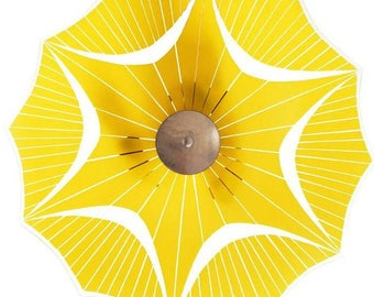 Czech Midcentury Yellow Pendant Lamp for Brussels World Expo, 1958