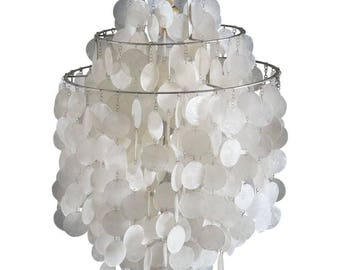 Verner Panton Fun 1 DM Capize Shell Chandelier