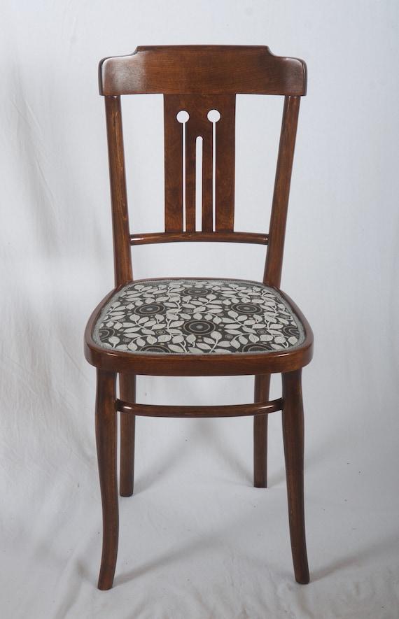 Sedie In Legno Curvato.Set Di Quattro Sedie Da Pranzo Di Legno Curvato Di Nouveau Di Etsy