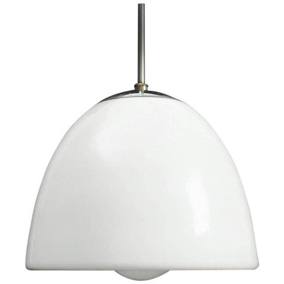 Opaline Glass Pendant by Louis Poulsen