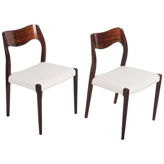 Rozenhout stoelen door Niels Otto Møller Model 71